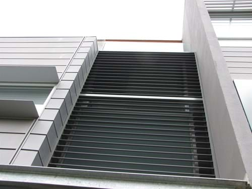 Enjoy the functionality of Pivoting Louvre Blade Shutter Panel Screens by Bayside Privacy Screens