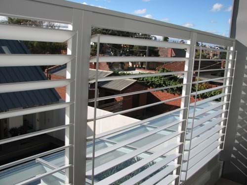 Maintenance free by Bayside Privacy Screens - the Pivoting 90mm Louvre Blade Shutter Panel Screen