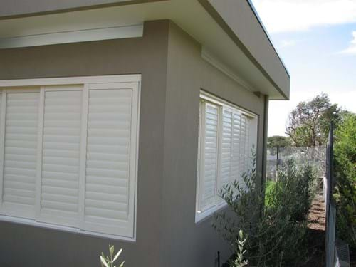 Bayside Privacy Screens, Pivoting Louvre Blade Shutters Sliding and bi folding