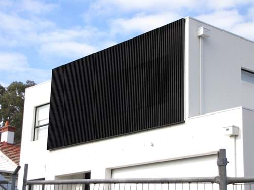 Bayside Privacy Screens design Feature Screens that filter privacy, light and sound