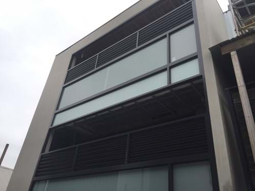 fixed louver blade balcony screen panel privacy