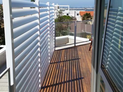 Fixed Louver Blade Balcony Privacy Screens