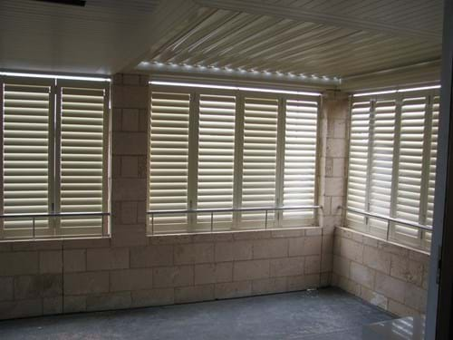 Ideal for al fresco living - the Pivoting Louvre Blade Shutters