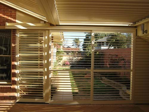 Pivoting Louvre Blade Shutters Sliding are ideal for use in residential applications