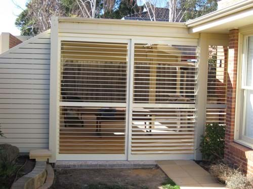 Classic style Louvre Blade Shutters Sliding and bi folding screens