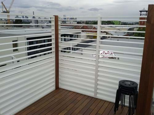 By popular demand - Bayside Privacy Screens produced the Pivoting Louvre Blade Shutter Panel Screen