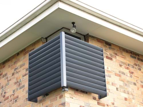 Louvre Blade Window Screens by Bayside Privacy Screens provide the perfect solution