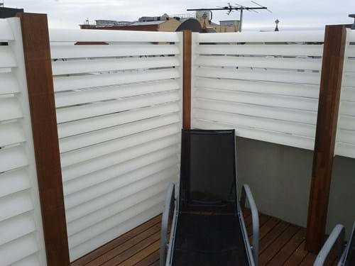 External Louvre Blade Balcony Screen by Bayside Privacy Screens